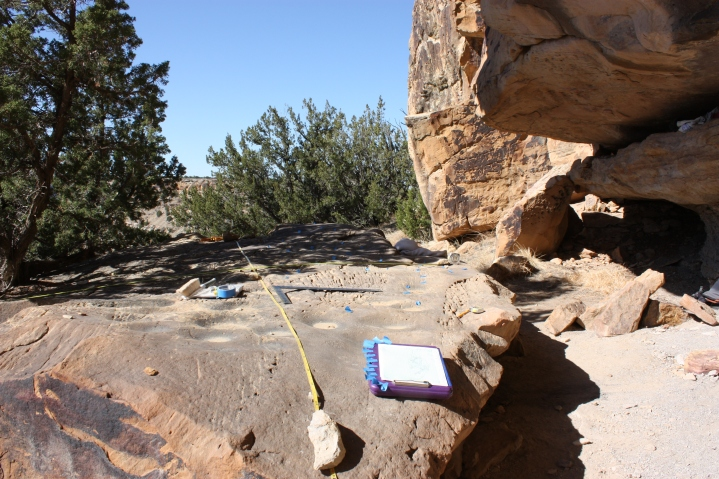Boulder with Ground Stone
